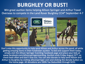 Burghley or bust flyer